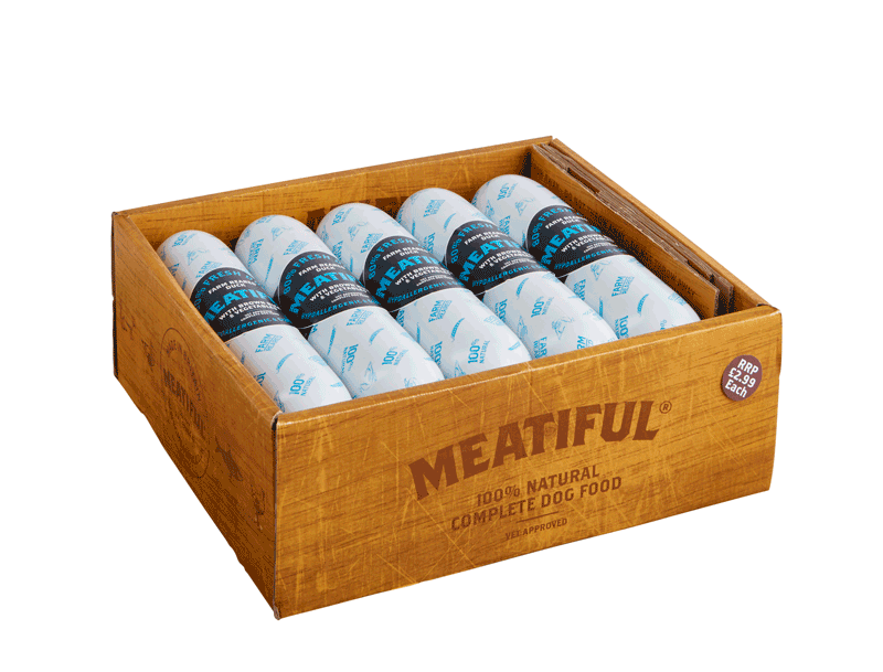 Box of meatiful duck sausages